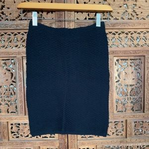 Topshop stretchy woven pencil skirt